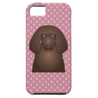 Dibujo animado del perro de aguas de agua irlandes iPhone 5 Case-Mate carcasas