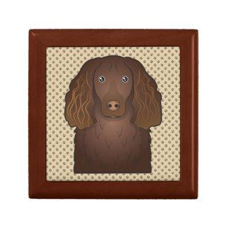 Dibujo animado del perro de aguas de Boykin Cajas De Joyas