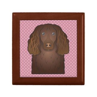 Dibujo animado del perro de aguas de Boykin Caja De Recuerdo