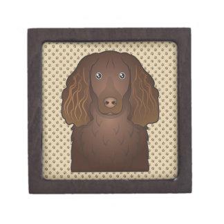 Dibujo animado del perro de aguas de Boykin Caja De Recuerdo De Calidad