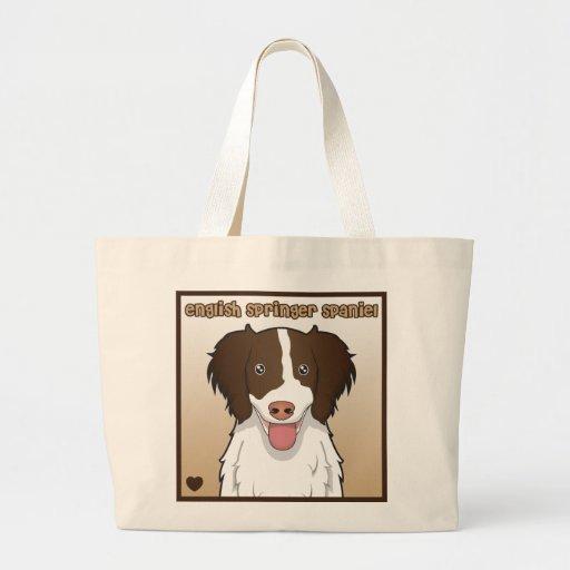 Dibujo animado del perro de aguas de saltador ingl bolsas de mano
