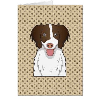 Dibujo animado del perro de aguas de saltador ingl felicitacion