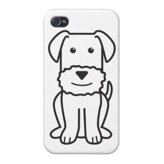 Dibujo animado del perro de Airedale Terrier iPhone 4/4S Fundas