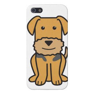 Dibujo animado del perro de Airedale Terrier iPhone 5 Carcasas