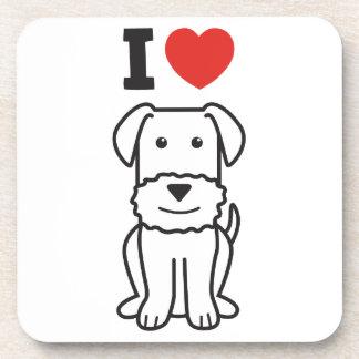 Dibujo animado del perro de Airedale Terrier Posavasos De Bebidas
