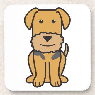 Dibujo animado del perro de Airedale Terrier Posavasos