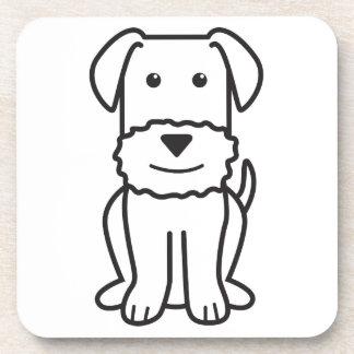 Dibujo animado del perro de Airedale Terrier Posavasos De Bebida