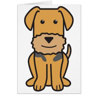 Dibujo animado del perro de Airedale Terrier Tarjetón