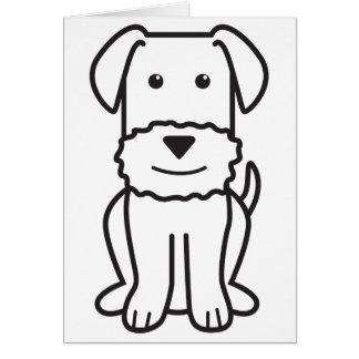 Dibujo animado del perro de Airedale Terrier Tarjetas