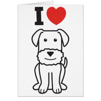 Dibujo animado del perro de Airedale Terrier Tarjeton