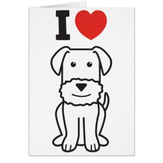 Dibujo animado del perro de Airedale Terrier Felicitaciones