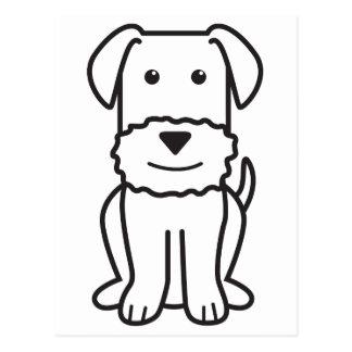 Dibujo animado del perro de Airedale Terrier Tarjetas Postales