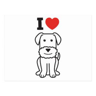 Dibujo animado del perro de Airedale Terrier Postal