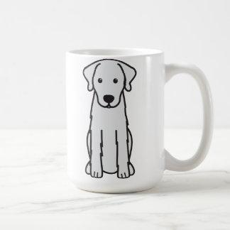 Dibujo animado del perro de Akbash Taza Básica Blanca