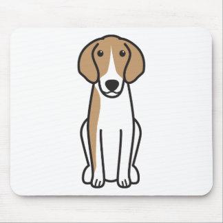 Dibujo animado del perro de Anglo-Français de Alfombrillas De Ratón