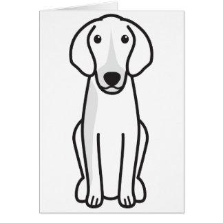 Dibujo animado del perro de Anglo-Français de Peti Tarjeta