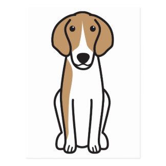 Dibujo animado del perro de Anglo-Français de Postal