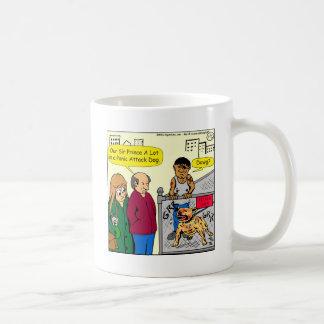 dibujo animado del perro de ataque de pánico 867 taza de café