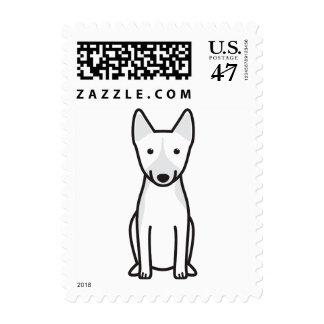 Dibujo animado del perro de Basenji Estampillas