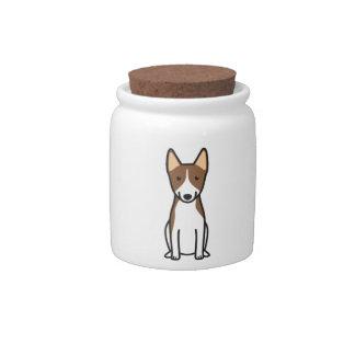 Dibujo animado del perro de Basenji Jarra Para Caramelo