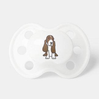 Dibujo animado del perro de Basset Hound Chupetes De Bebé
