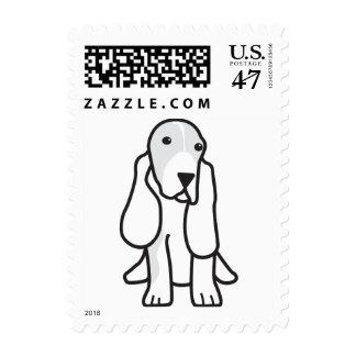 Dibujo animado del perro de Basset Hound Estampillas