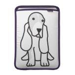 Dibujo animado del perro de Basset Hound Fundas Macbook Air