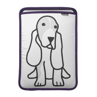 Dibujo animado del perro de Basset Hound Funda MacBook