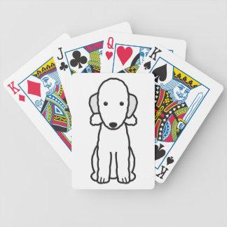 Dibujo animado del perro de Bedlington Terrier Barajas De Cartas