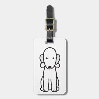 Dibujo animado del perro de Bedlington Terrier Etiqueta Para Maleta