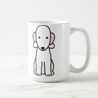 Dibujo animado del perro de Bedlington Terrier Taza Básica Blanca