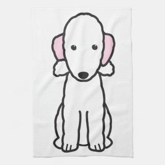 Dibujo animado del perro de Bedlington Terrier Toalla De Mano
