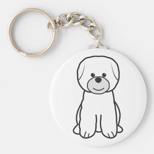 Dibujo animado del perro de Bichon Frise Llavero Personalizado