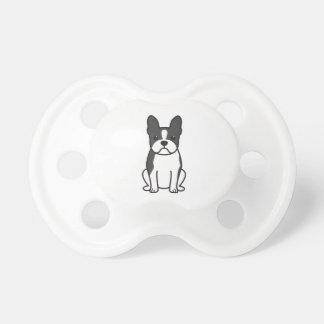Dibujo animado del perro de Boston Terrier Chupetes Para Bebes