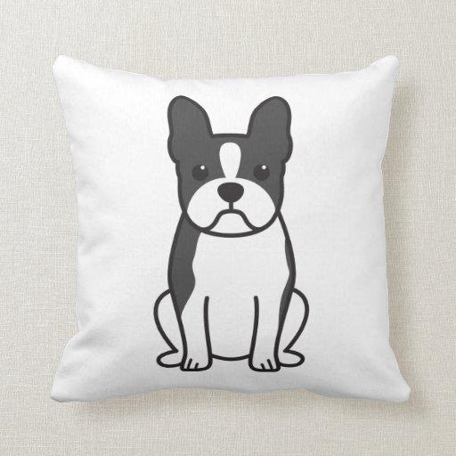 Dibujo animado del perro de Boston Terrier Cojín