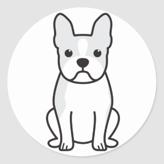Dibujo animado del perro de Boston Terrier Pegatina Redonda