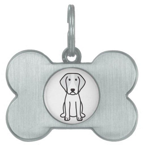 Dibujo animado del perro de Bretaña Placas De Mascota
