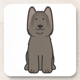 Dibujo animado del perro de Briard Posavasos De Bebidas