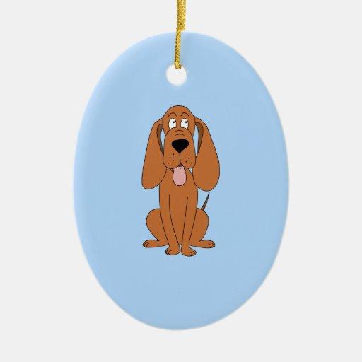 Dibujo animado del perro de Brown. Perro Ornamentos De Reyes