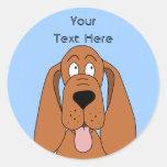 Dibujo animado del perro de Brown. Perro Etiquetas