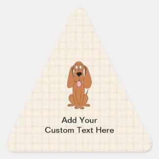 Dibujo animado del perro de Brown. Perro Pegatina Triangular