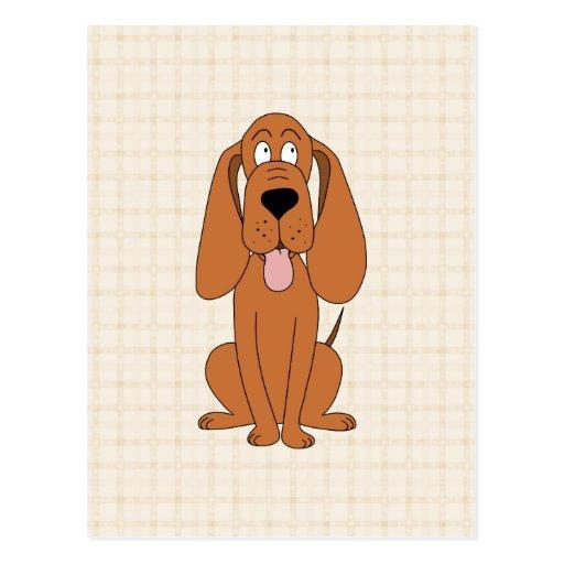 Dibujo animado del perro de Brown. Perro Postales