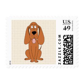 Dibujo animado del perro de Brown. Perro Franqueo