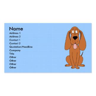 Dibujo animado del perro de Brown. Perro Tarjetas De Visita
