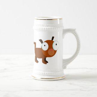 Dibujo animado del perro de Brown Jarra De Cerveza