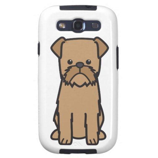 Dibujo animado del perro de Bruselas Griffon Galaxy SIII Coberturas