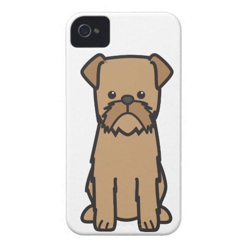 Dibujo animado del perro de Bruselas Griffon iPhone 4 Case-Mate Fundas