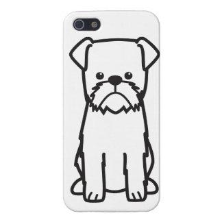 Dibujo animado del perro de Bruselas Griffon iPhone 5 Cárcasa