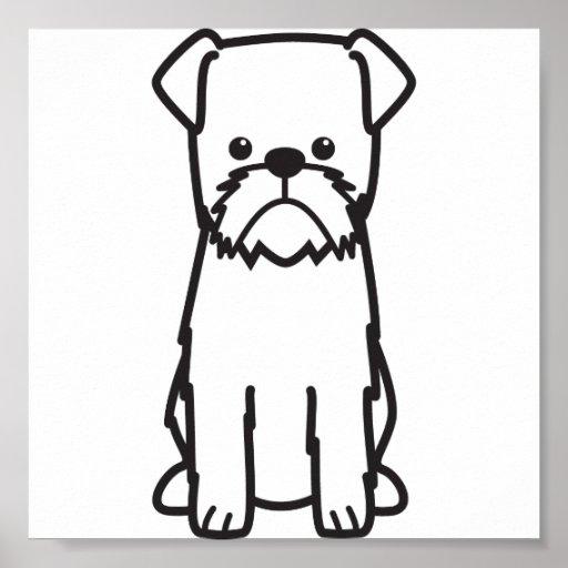 Dibujo animado del perro de Bruselas Griffon Impresiones
