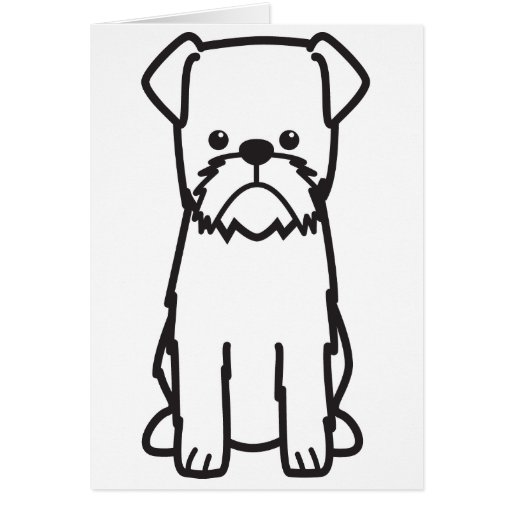 Dibujo animado del perro de Bruselas Griffon Tarjeta De Felicitación